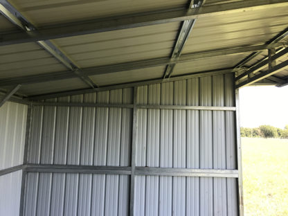 All vertical metal animal shelters/Loafing shed