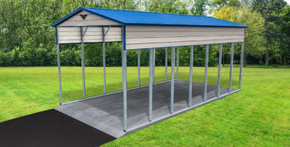 18x36x14 Double Leg and Base Rail RV Port