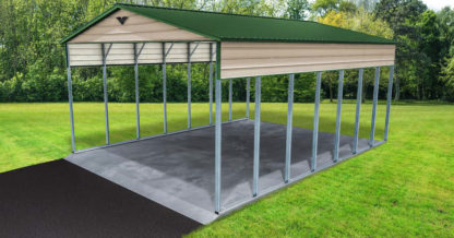 26x36x14 Double Leg Vertical Roof RV Port