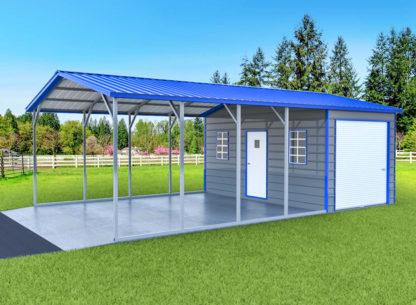 18x30x8 Combo (Carport & Storage Shed)