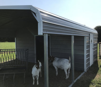 18x20 Livestock Shelter, 10' enclosed.